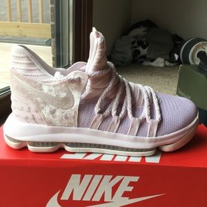 Nike KD 10 Aunt Pearl Pink White Size 7